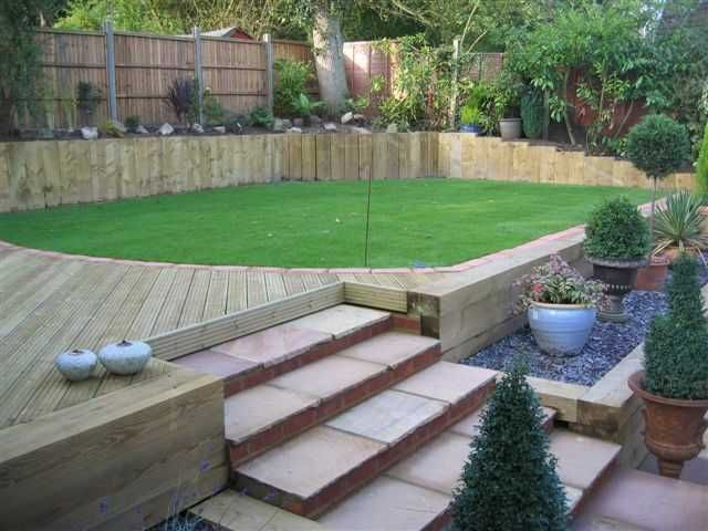 Stuart Watson\'s epic garden transformation with new railway sleepers ...