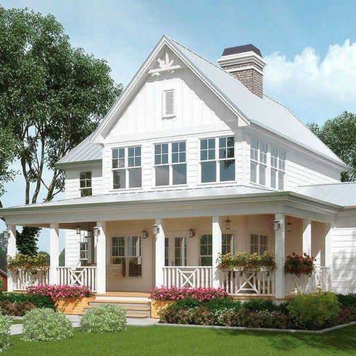 Exploring farmhouse style home exteriors planos de casas - Porches de casas de campo ...