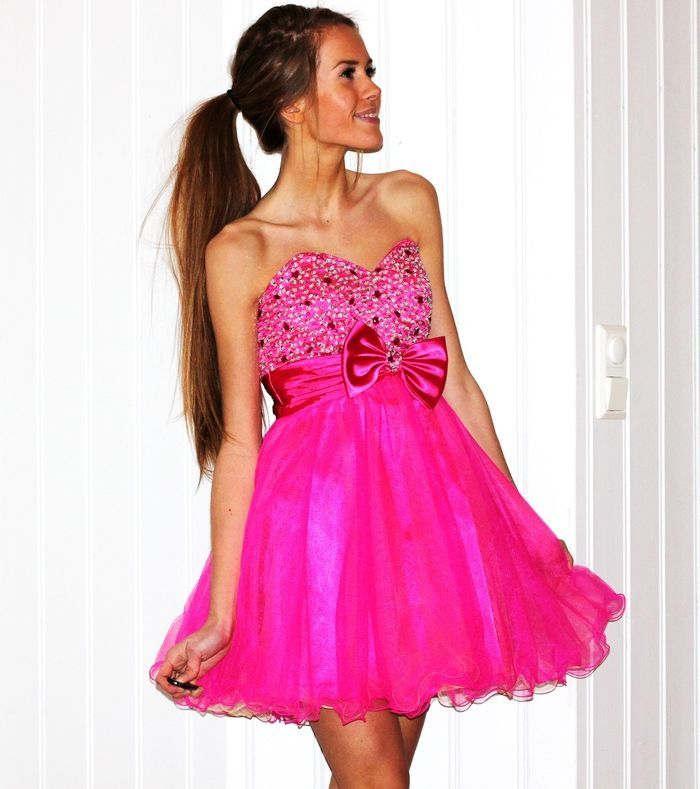 Flirty Pink Baby Doll Dress | ♥ Stunning Evening Dresses ...