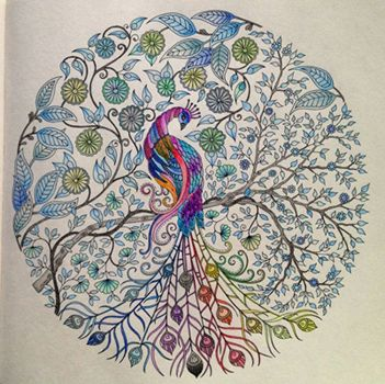 A Beautiful Page Coloured By Fan Of The Secret Garden Colouring Book