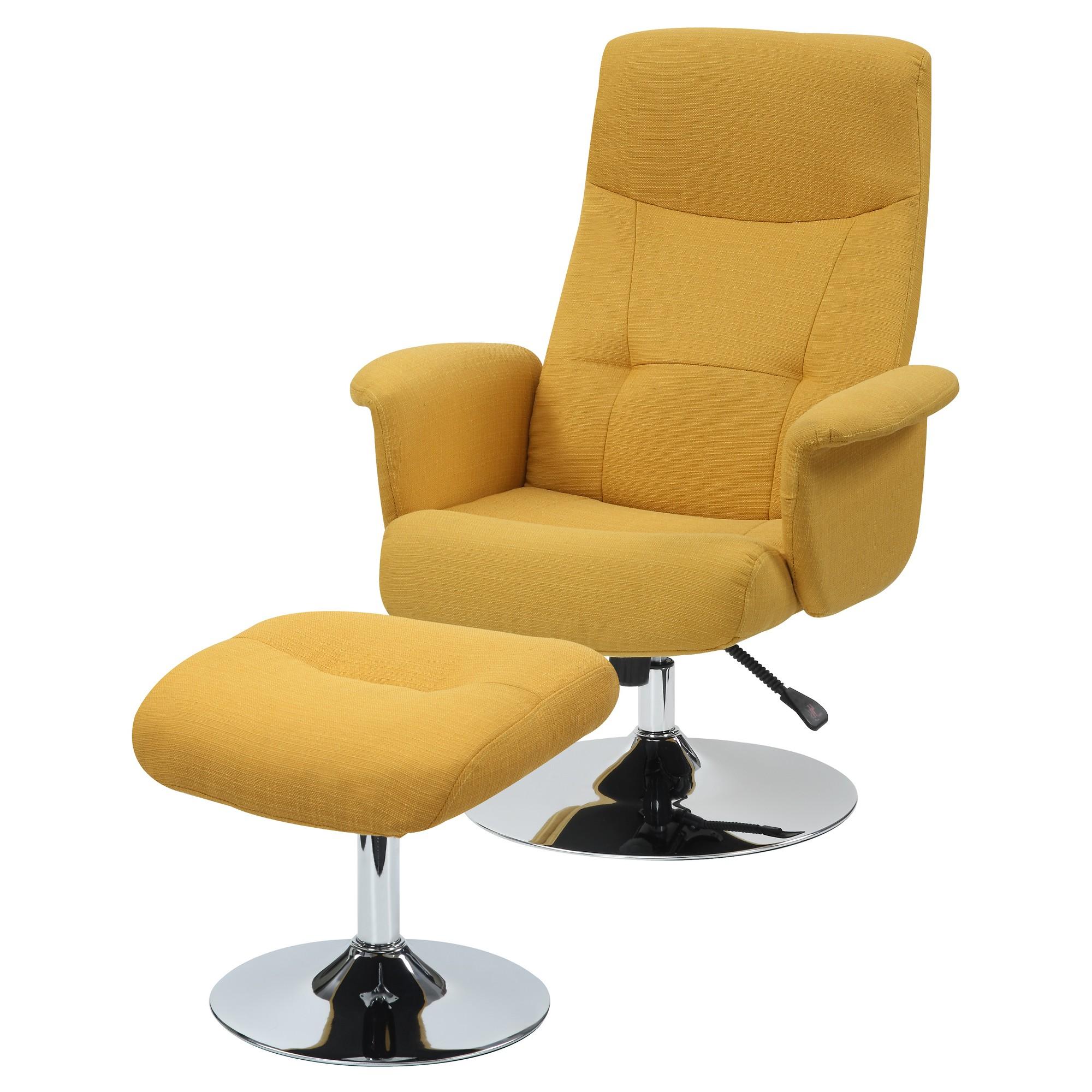 dallas chair and ottoman  mustard yellow  handy living