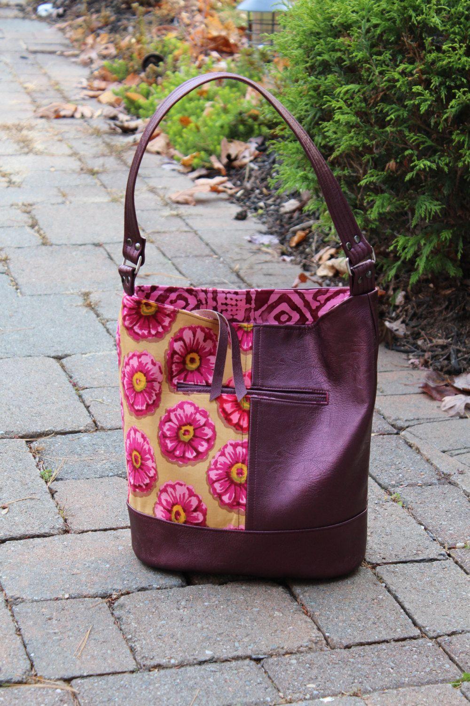 Vinylcotton Bonnie Bucket Hobo Style Shoulder Bag Swoon Patterns
