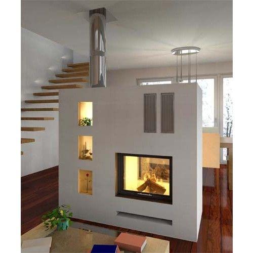 Kamin Beidseitig Glas kaminnieschen wohnen wohnen häuschen und ideen