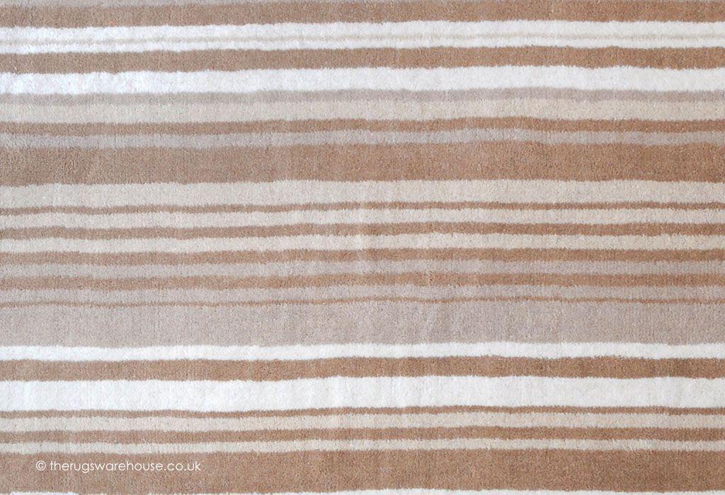 Tibesti Beige Rug Texture Close Up A Striped Handmade 100 Wool
