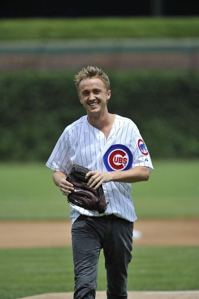 Tom Felton is a Cubs fan??!! Yayyyyyyyyyy!!!!!!!!