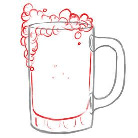 How To Draw A Beer Mug Inner Artist Pinterest Beer Mugs