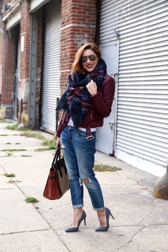 How To Style A Burgundy Leather Jacket (My Style Pill