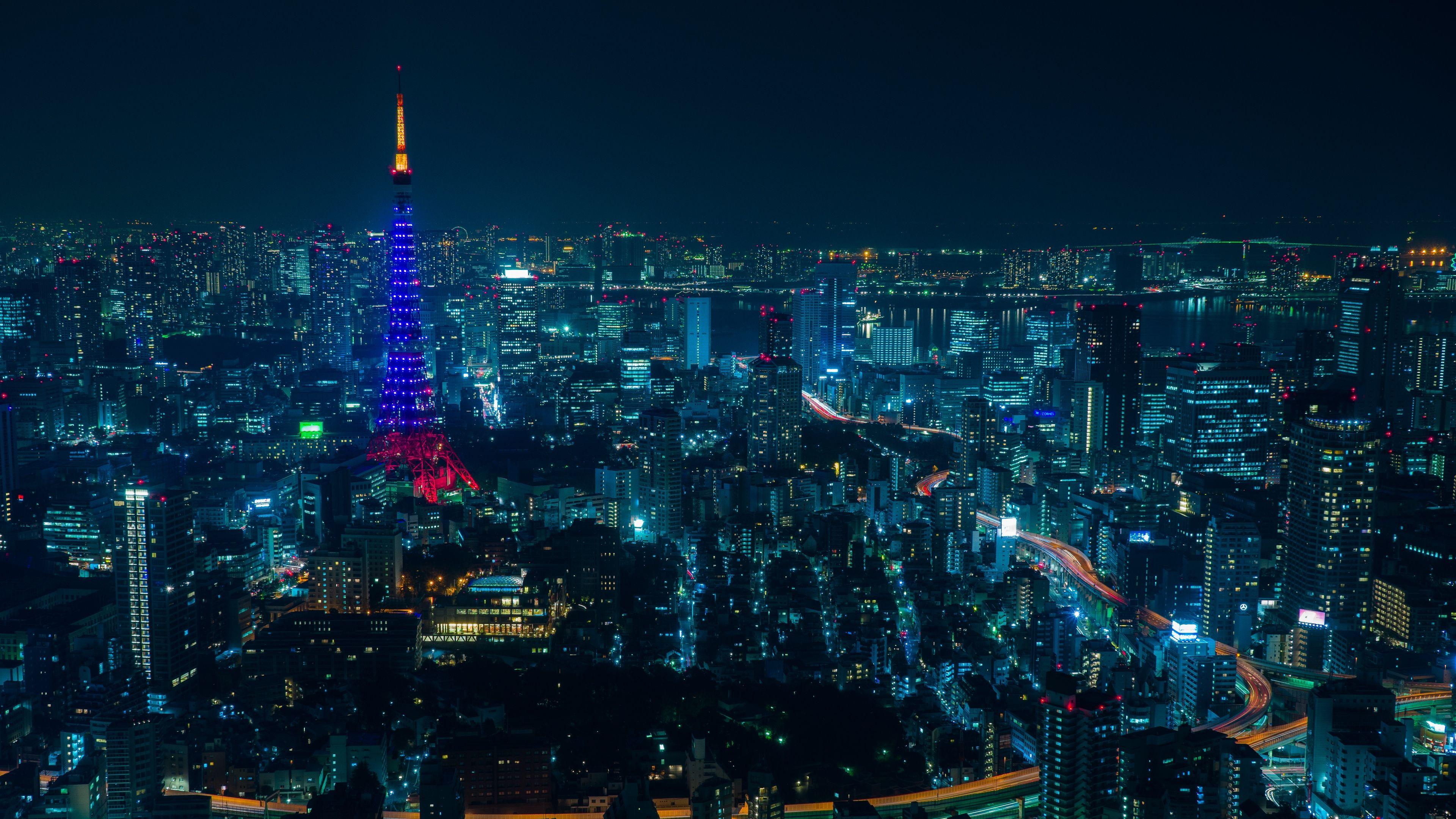 Tokyo Night City Skyscrapers 4k Tokyo Skyscrapers Night City In 2020 Tokyo Tower Tokyo Night Tokyo Picture