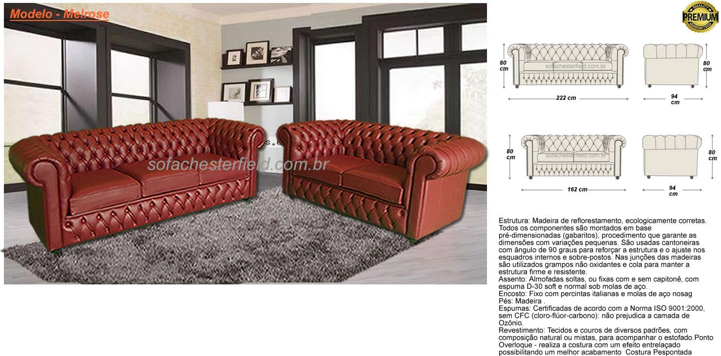 Sofa chesterfield medidas pesquisa google medidas for Medidas sofa cheslong