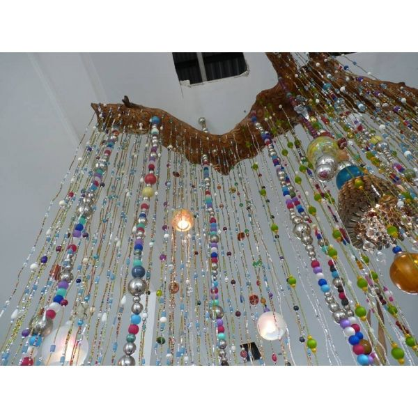 rideaux perles de verre | Rideau de perles | hobbi | Pinterest ...
