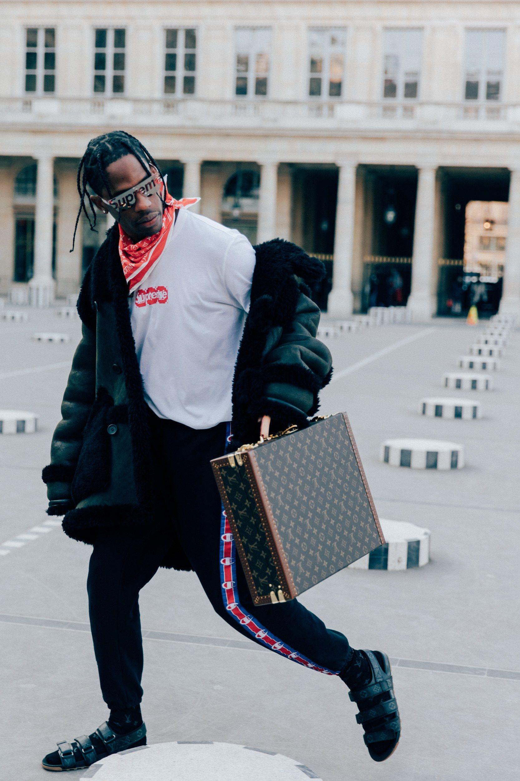 5c773b2d0cf2e The Houston rapper was wearing Louis Vuitton sandals