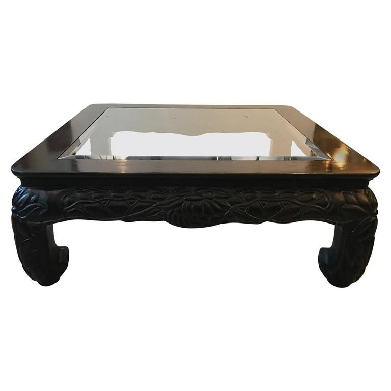 Asian Style Hand Carved Coffee Table
