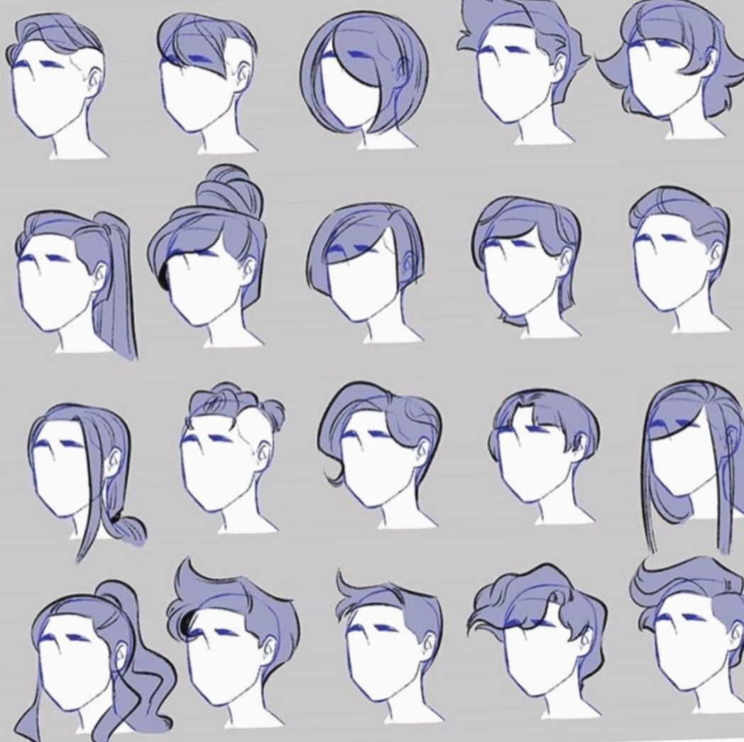 Hairstyle Drawing - Hairstyle Drawing  Art reference photos, Art