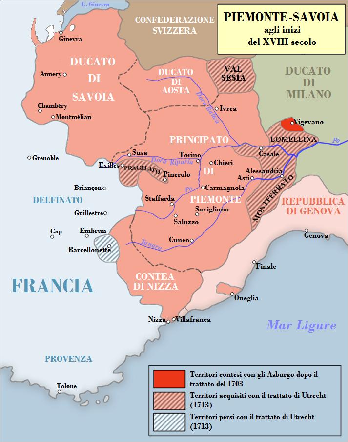 Cartina Savoia Francia.Mappa Dell Evoluzione Dei Domini Dei Duchi Savoia E Aosta E
