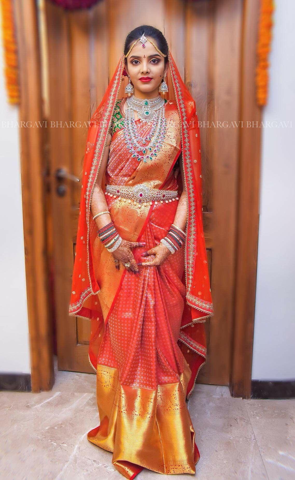 d84d690e07a5f Diamond Choker Jewelry Red Saree Sari Traditional Sarees Bridal Sets