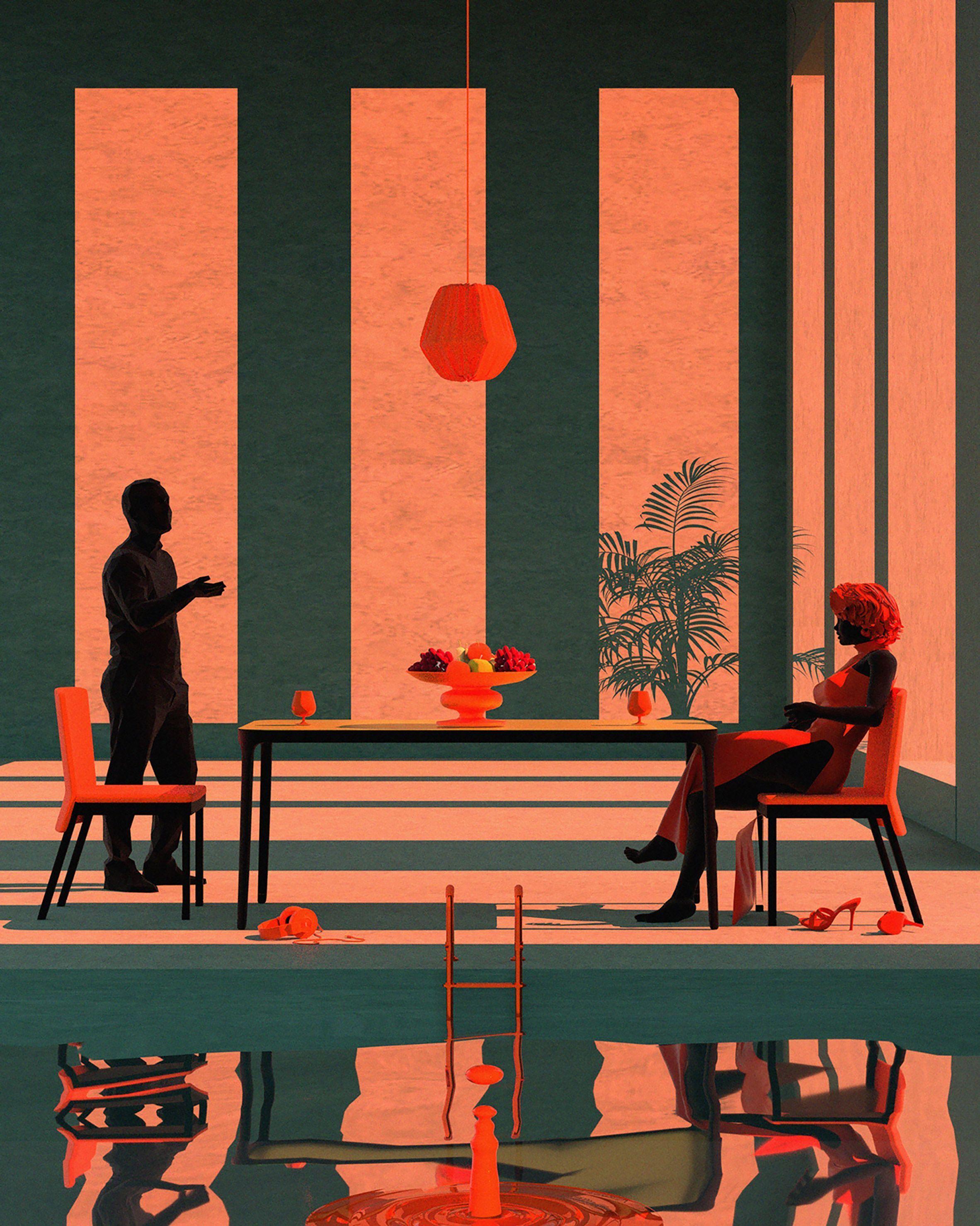 Photo of Illustrations Tishk Barzanji schafft psychedelische Architekturillustrationen. A…