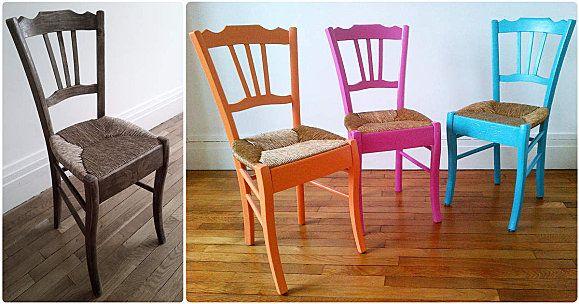 Un Bon Diy Pour Relooker Des Chaises Oldschool Deco Ameublement Deco Mobilier De Salon
