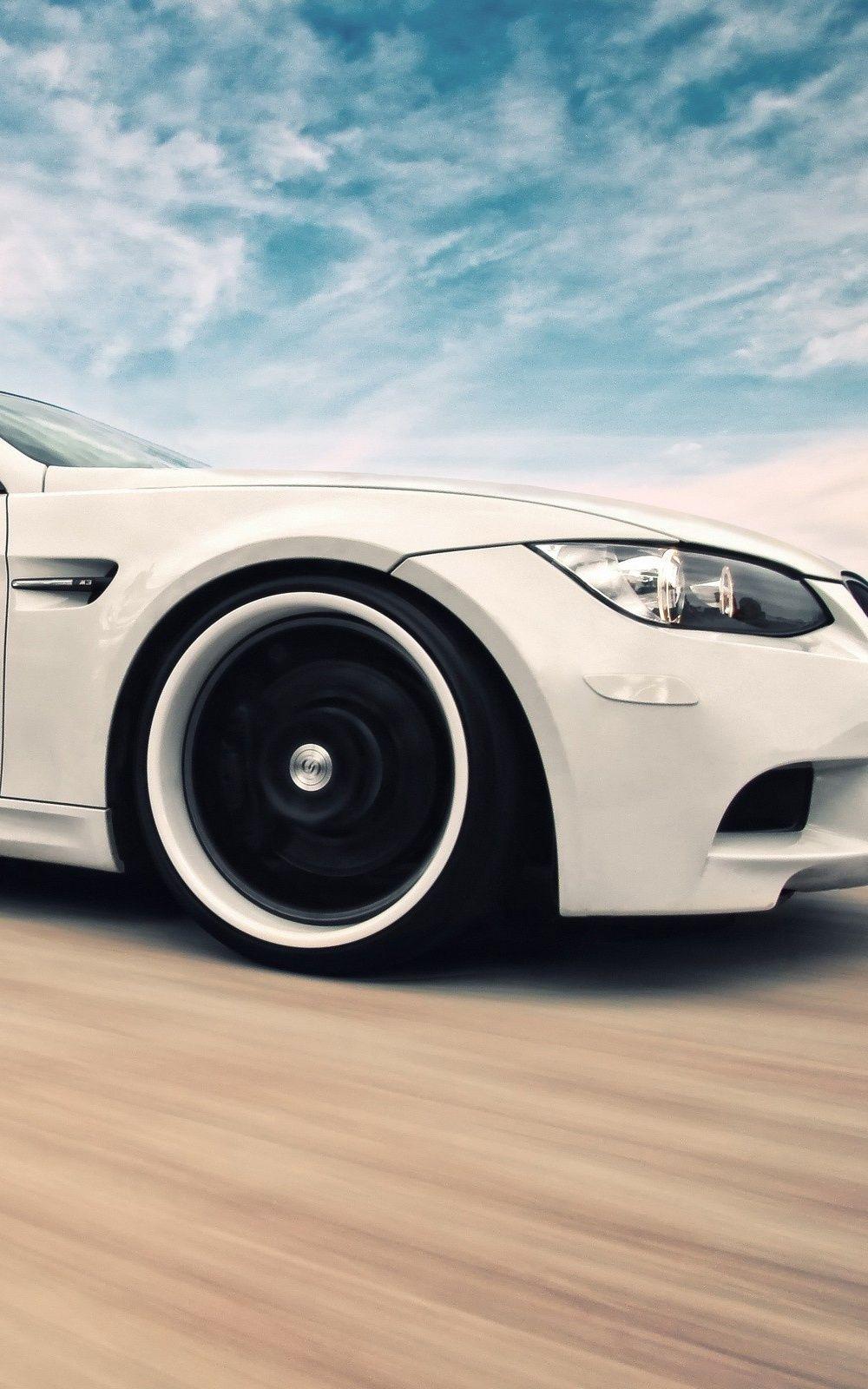 Wallpaper iphone bmw - Bmw M3 White Super Car Desert Iphone 6 Plus Hd Wallpaper Http