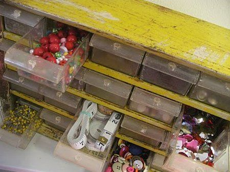 Superb Organizing With Repurposed Items | Little Buttercupu0027s Studio Repurposed An  Old Tool Drawer For Her .