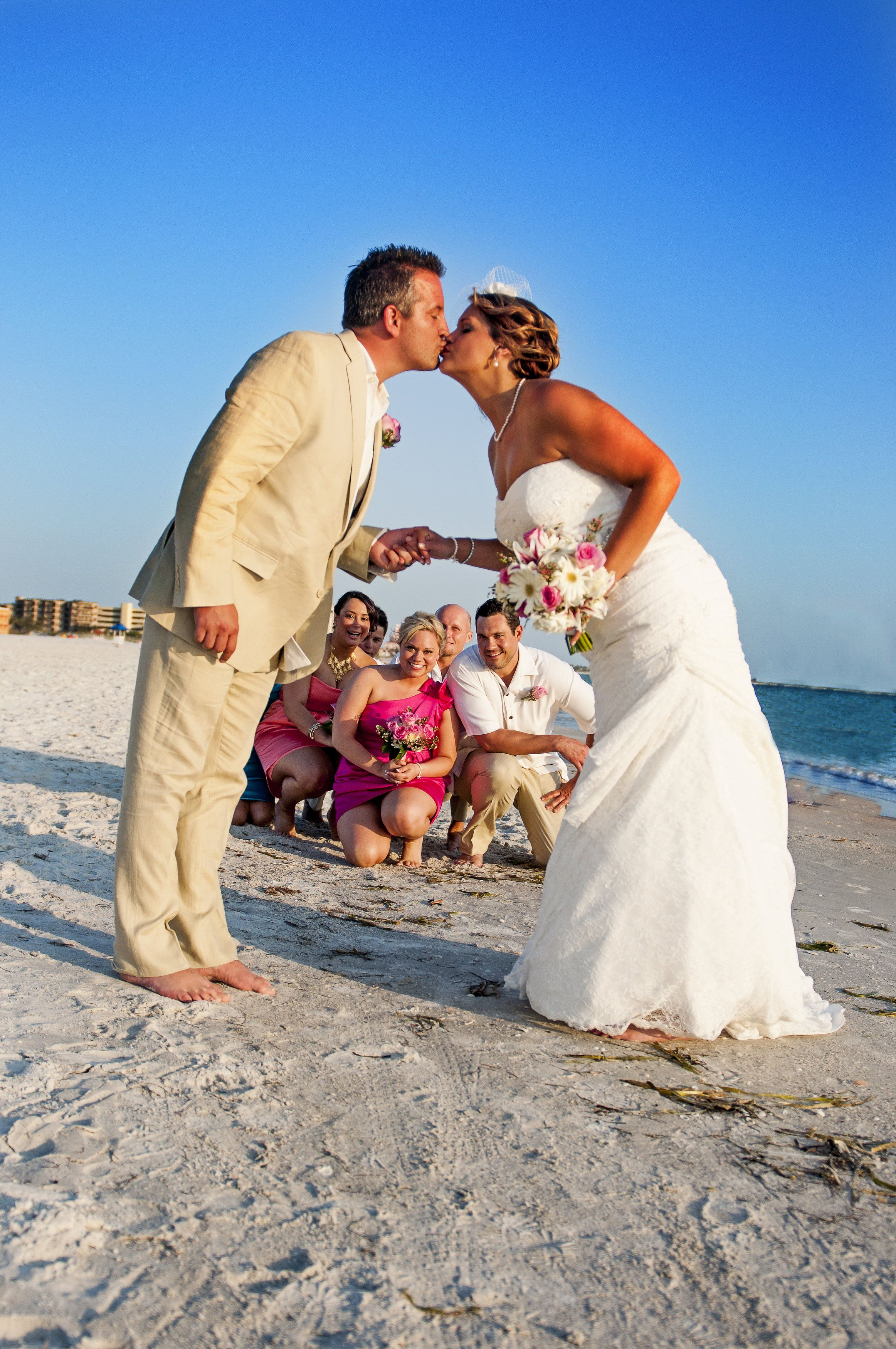 Beach wedding shots. Must do for a small bridal party