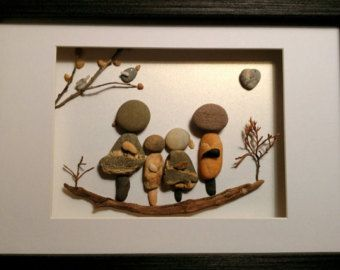 Family pebble art beach stone rt rock art von madebynatureandme
