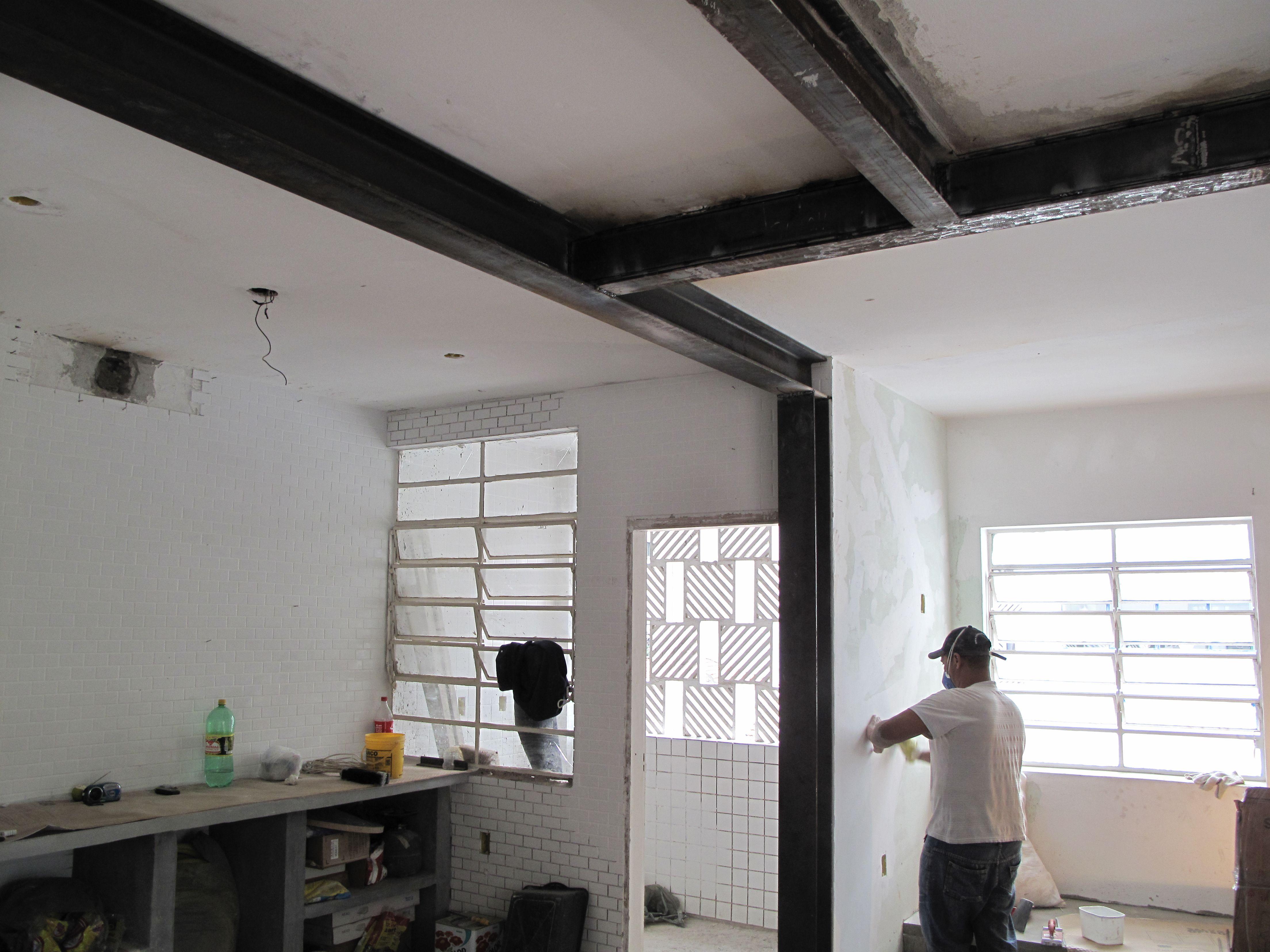 Obras colunas e vigas met licas techos pinterest for Cielos de cocinas