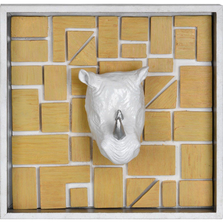 Ren-Wil W6330 Rhino Mount Wall Decor in Matt White | Rhinos, Wall ...