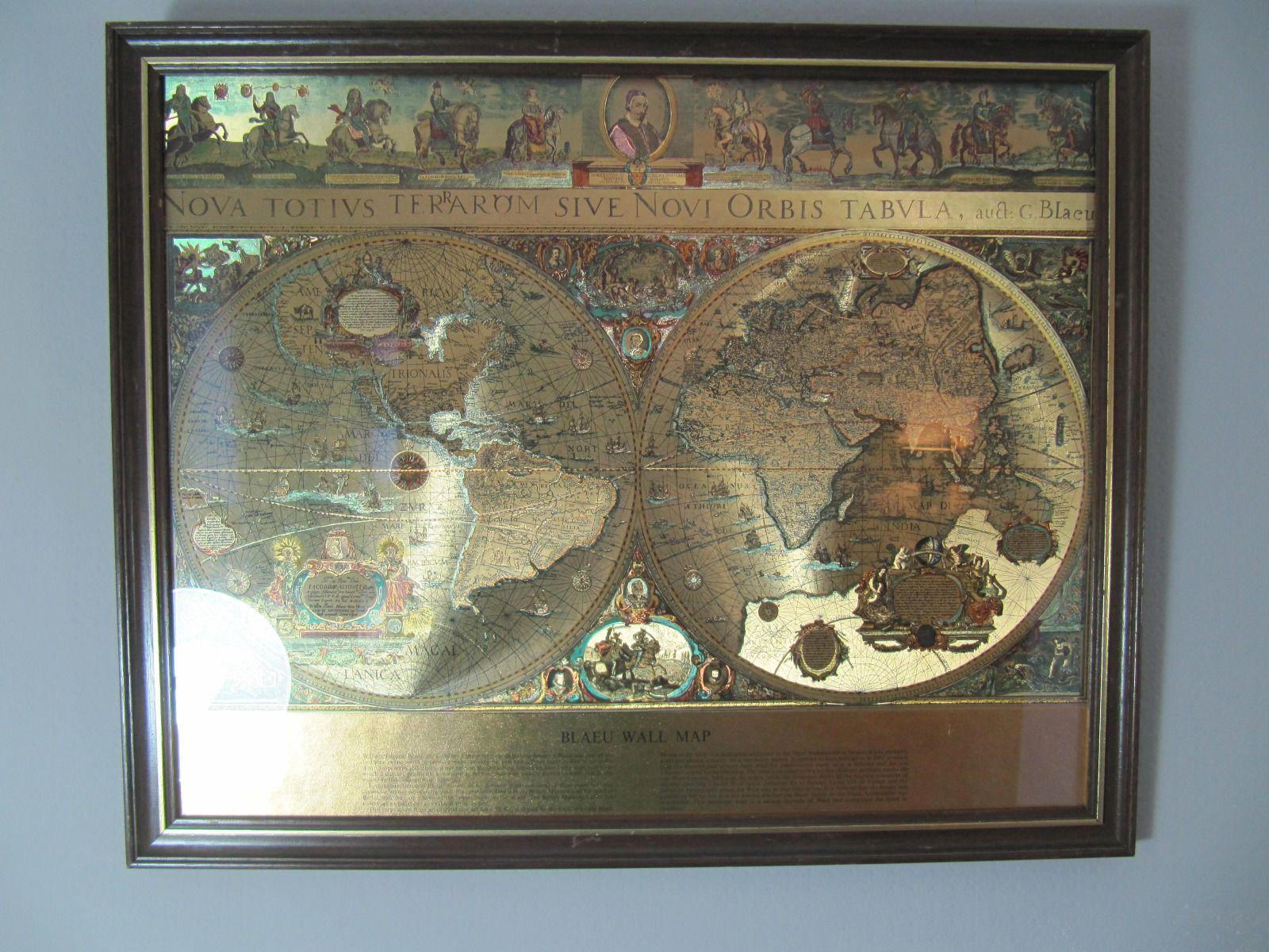 Blaeu wall map nova totivs terarom sive novi orbis tabvla framed blaeu wall map nova totivs terarom sive novi orbis tabvla framed ebay gumiabroncs Gallery