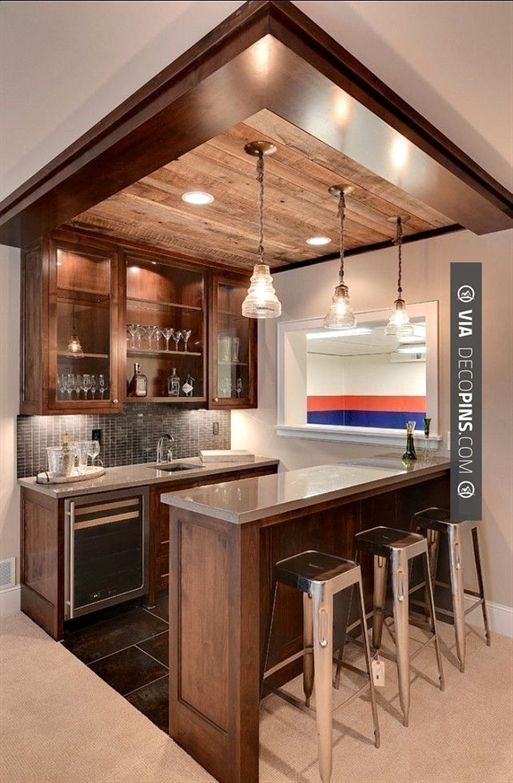Mini Bar Top Right Hangout Area Basementideas Home Bar Designs