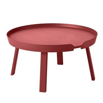 Around Table Large Dark Red Coffee Table Table Furniture Durable Table