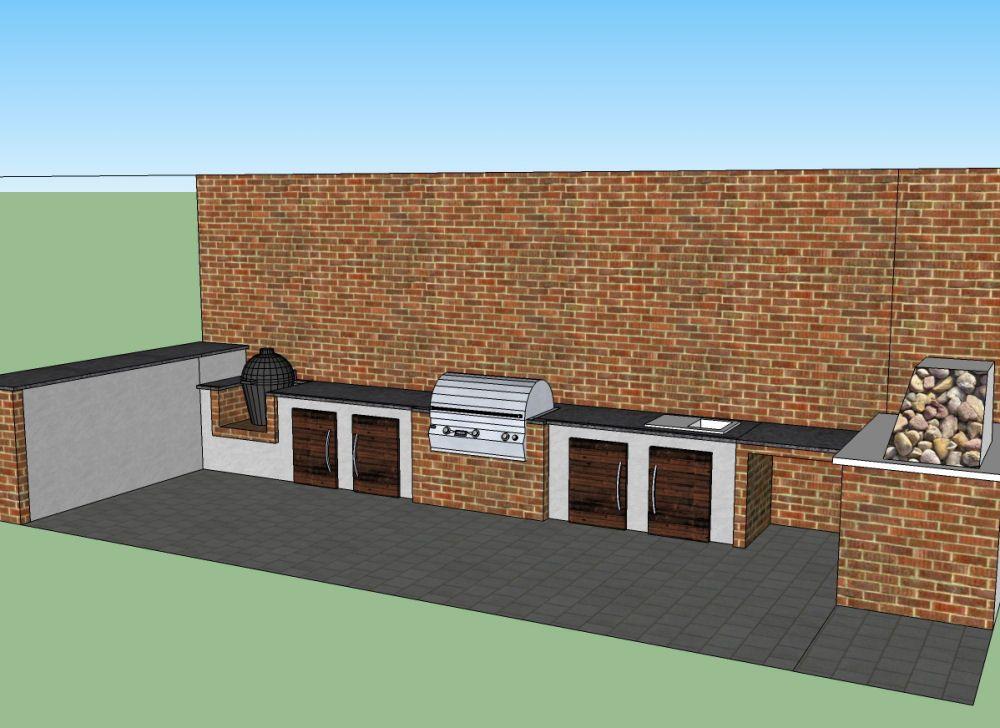 Außenküche Mit Backofen : Brotbackofen und außenküche grillforum und bbq