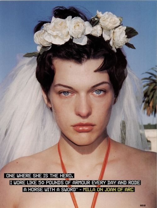 Milla Jovovich photographed by Terry Richardson for Dazed & Confused Magazine, June 1999