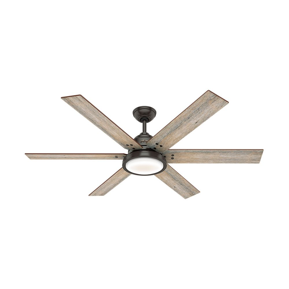 Hunter 60 Warrant Noble Bronze Ceiling Fan With Light Kit And