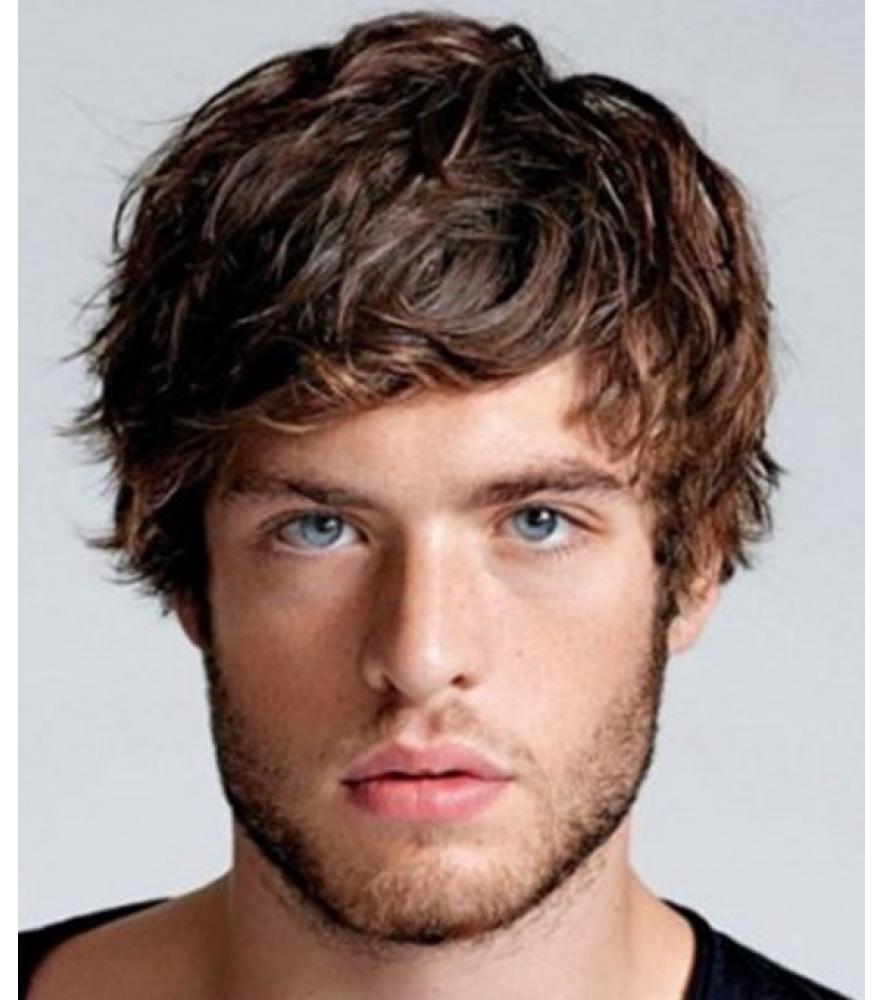 Short brown curly mens wig shorthairstyles short hairstyles in