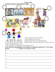 English worksheet: Children´s rights | Worksheets for kids ...