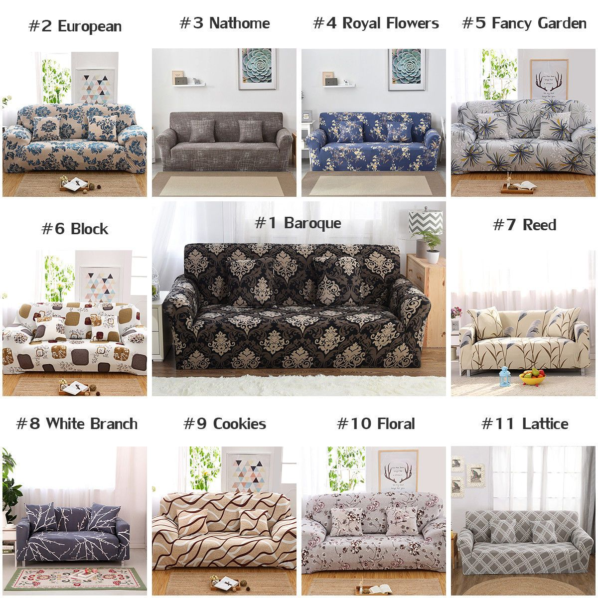 4 99 Aud 1 2 3 4 Seater Couch Sofa Slipcover Protector Cover Chair Loveseat W Faom Sticks Ebay Home Garden Loveseat Slipcovers Sofa Covers Home Decor