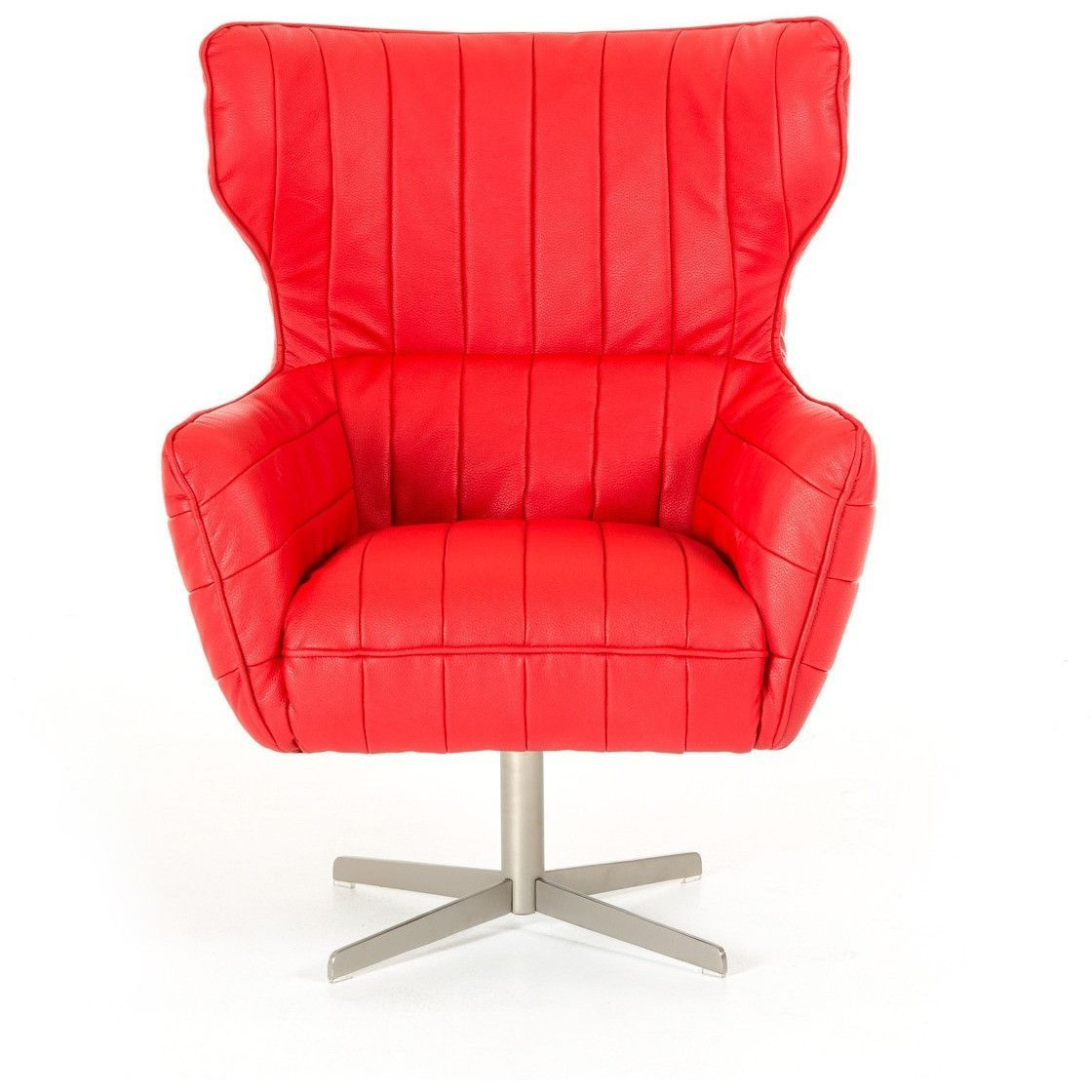 divani casa kylie modern red eco leather accent chair pinterest