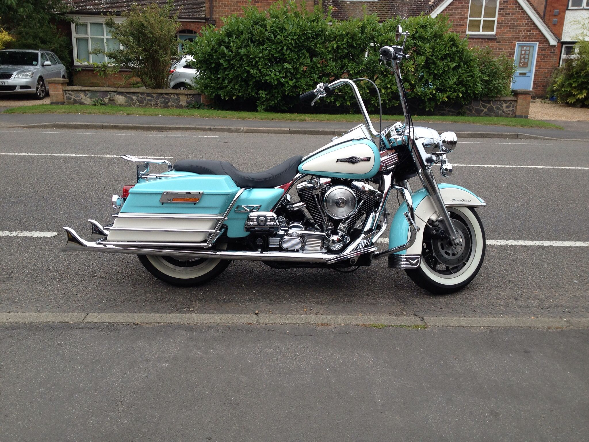 Harley Road King With 36 Quot Samson Fishtails Hot Rods And