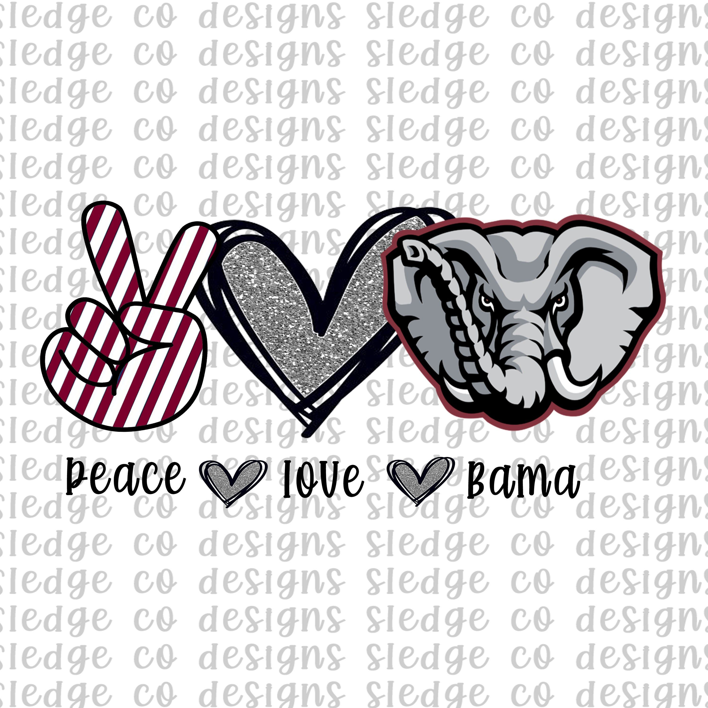 Download Love Peace And Crimson Tide Svg - Searching On Zibbet A ...