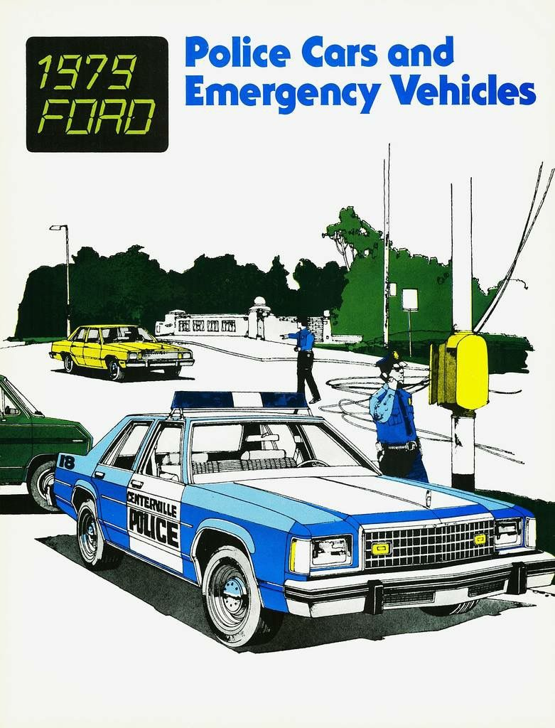 Ford Police Car Brochure  Vintage Police Vehicles