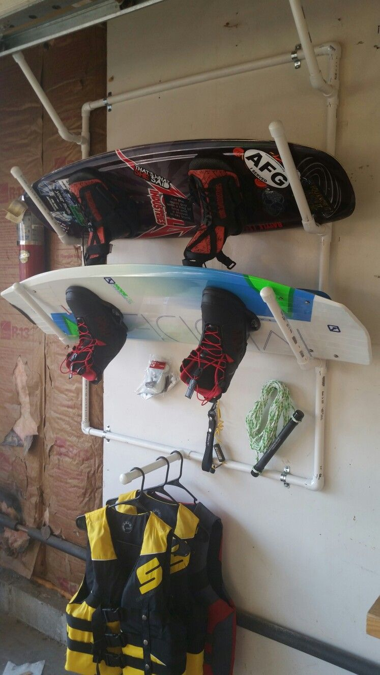 Wakeboard Snowboard Rack Pvc Diy Kayak Storage Wakeboard