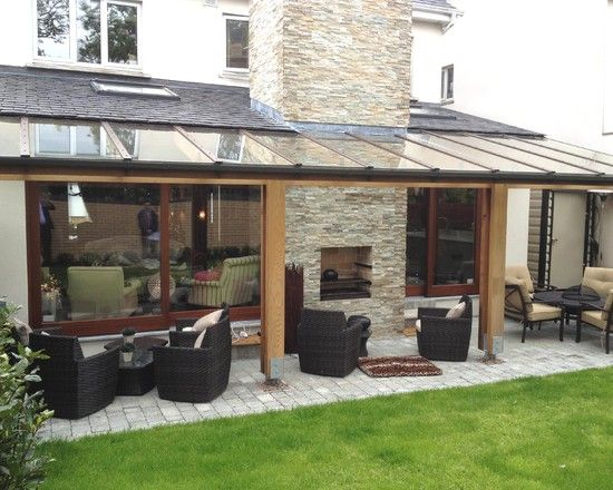 Cozy House Backyard Extension Design Ideas: Inspiring Pergola With Transparent  Roofing For Cozy Outdoor Patio Of Malahide House Completed Fo.