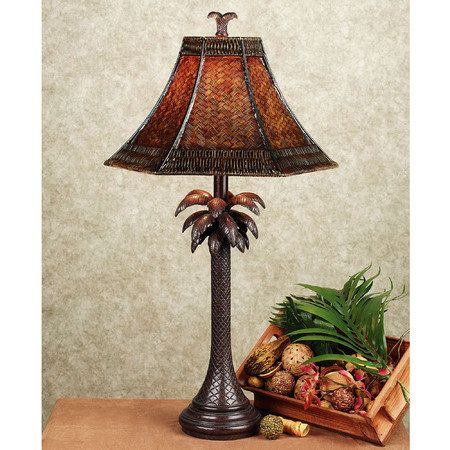Palm tree table lamp tapas tropicales pinterest tree table palm tree table lamp mozeypictures Images