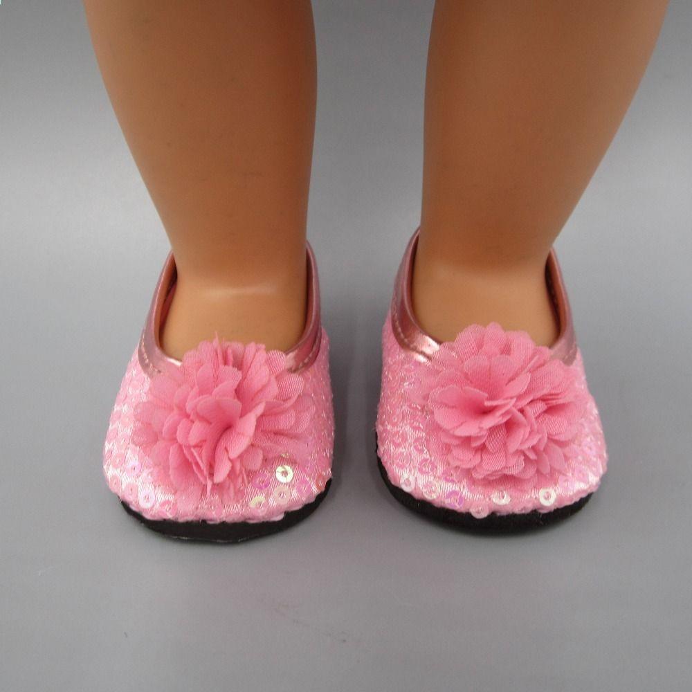 Fit 43cm Zapf Baby Born Doll Accessories Rozowa Lalka Buty Urodziny Dziecka Prezent Swiateczny Ribbon Slides Shoes Fashion