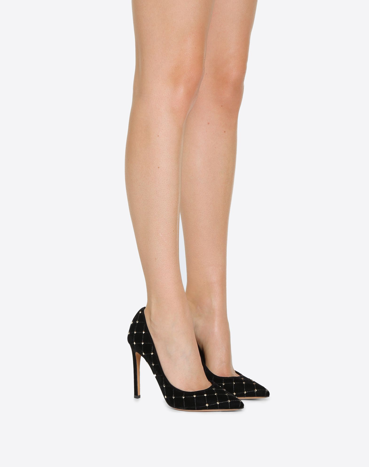 7b75291eb13 Velvet Rockstud Spike Pump 105mm for Woman