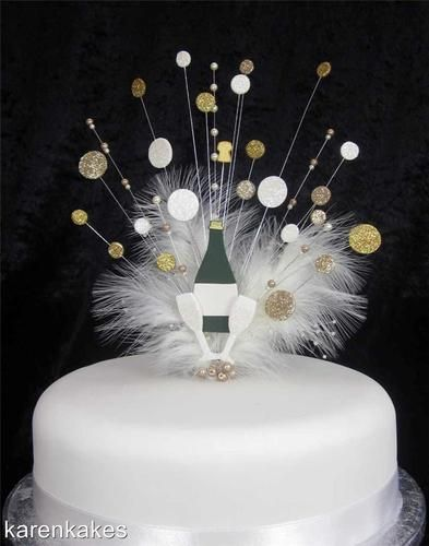 Champagne Bottle Cake Topper With Bubbles Amp Age 21st