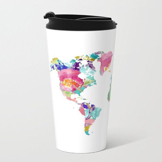 world map metal travel