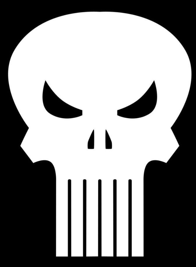 The Punisher Skull logo decal Marvel Comics Frank Castle Francis Castiglione
