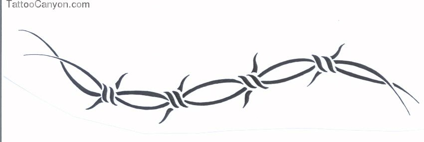 Tribal Barbed Wire picture 9830 | drawings | Pinterest | Barbed wire ...
