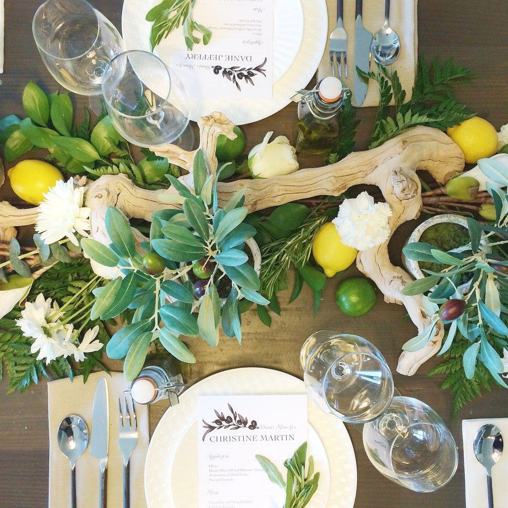 Greek Table Setting Decorations Gone Greek Dinner Party With Lauren Kelp Table Pinterest